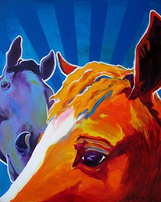 Painting - Horse - We Come In Peace by Alicia VanNoy Call