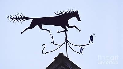 Horse Weathervane Art Print