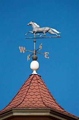 Gold Weathervane Photograph - Horse Weathervane by Christina Ochsner