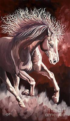 Horse Wild Fire Art Print