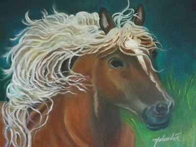 Art Print featuring the painting Horse by Yolanda Rodriguez