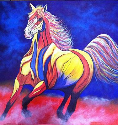 Colourfull Painting - Horse#5 by Nidhi Khosla
