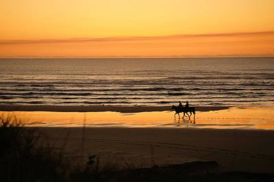 Photograph - Horseback At Sundown by Angi Parks