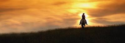 Western Pleasure Horse Photograph - Horseback Rider by Darren Greenwood