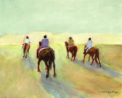 Painting - Horseback Riders by J Reifsnyder