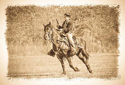 Photograph - Horseback Soldier by Steve McKinzie
