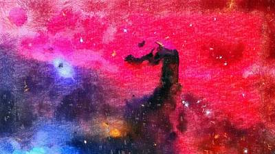 Education Painting - Horsehead Nebula by Dan Sproul