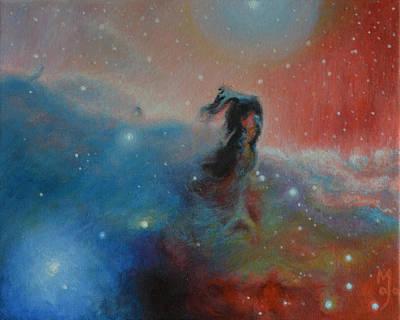 Stellar Stars Nursery Painting - Horsehead Nebula by Maja  Opacic