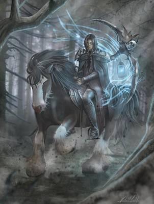 Spirt Digital Art - Horsemen Of The Apocalypse - Death by Victor  Castillo