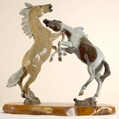 Sculpture - Horseplay by Hugh Blanding