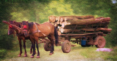 Equine Drawing - Horsepower by Jeff Kolker