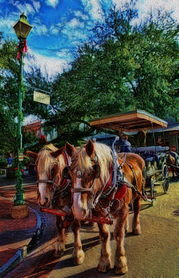 Horses - The Clydesdales In Christmas  Art Print