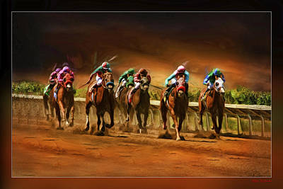 Horse's 7 At The End Art Print