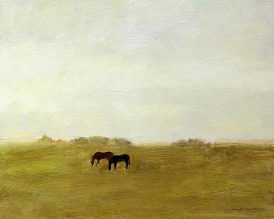 Horses Afield Art Print by J Reifsnyder