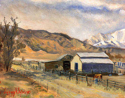 Painting - Horses And Bairs by Jeff Brimley
