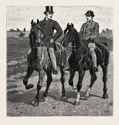 Horses, Engraving 1884, Life In Britain, Uk, Britain Art Print by Charlton, John (1849-1917), English School