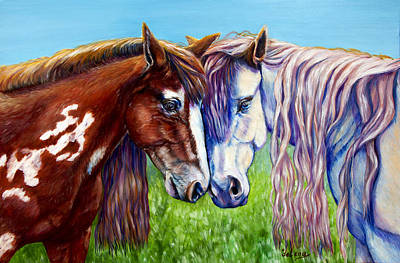 Horses Frolicking  Art Print