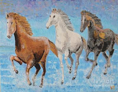 Horses From Troy Art Print by Vicky Tarcau