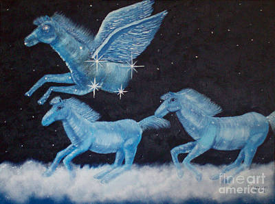 Painting - Horses In Heaven by Tim Longwell