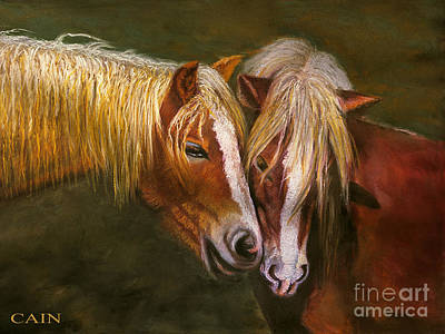 Painting - Horses In Love Art Print by William Cain
