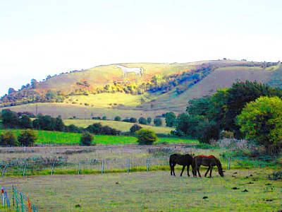 Horses In The English Countryside Art Print