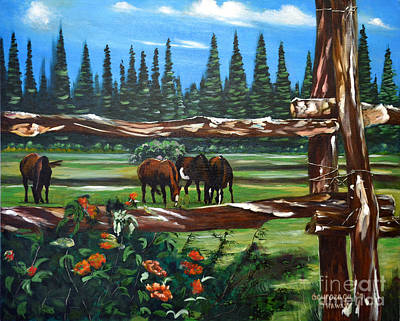 Painting - Horses by Larry Geyrozaga