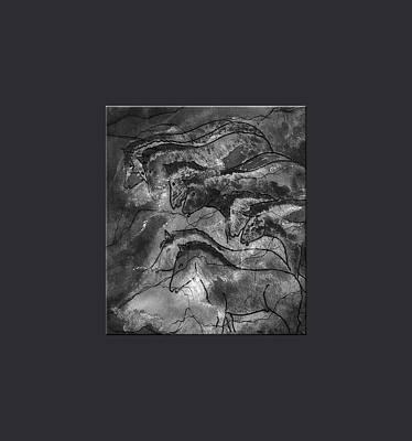 Horses Lascaux Cave Se France Print by L Brown