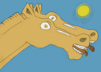 Animals Drawings - Horses by Leif Bakka