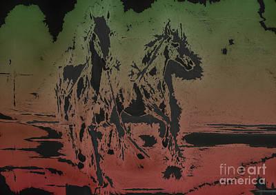 Horses Art Print by Manik