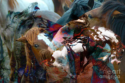 Photograph - Horses by Mayhem Mediums
