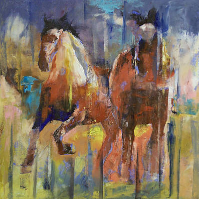 Horse Racing Painting - Horses by Michael Creese