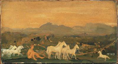Arthur Bowen Davies Painting - Horses Of Attica by Arthur Bowen Davies