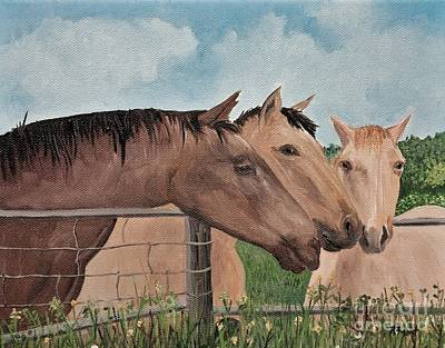 Painting - Horses Of British Columbia by Reb Frost