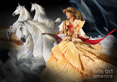 Horses Of The Night Original by Angelika Drake