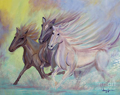 Painting - Horses Of The Sea by Stacey Zimmerman