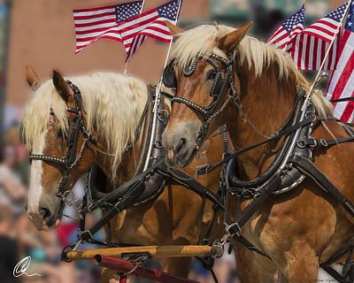 Photograph - Horses On Parade by Chris Thomas