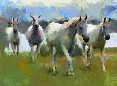 House Pet Digital Art - Horses by Yury Malkov