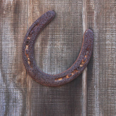 Good Luck Photograph - Horseshoe by Art Block Collections