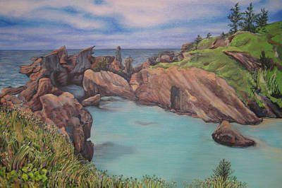 Painting - Horseshoe Bay Beach Bermuda by Jeff Seaberg