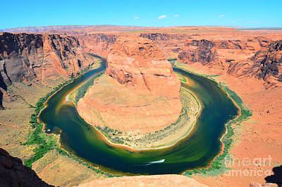 Photograph - Horseshoe Bend And Speedboat by Debra Thompson