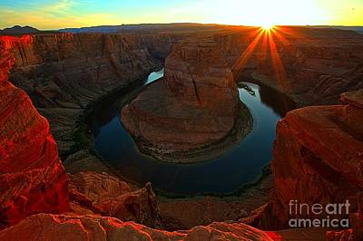 Photograph - Horseshoe Bend Glow by Adam Jewell