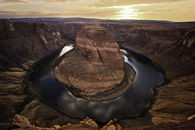 Slate Photograph - Horseshoe Bend by Larry Marshall