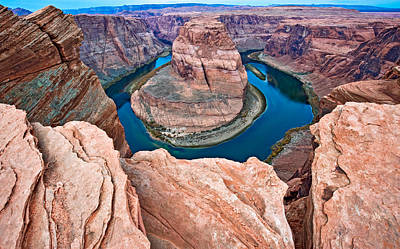 Page Digital Art - Horseshoe Bend Morning - Colorado River Photograph by Duane Miller