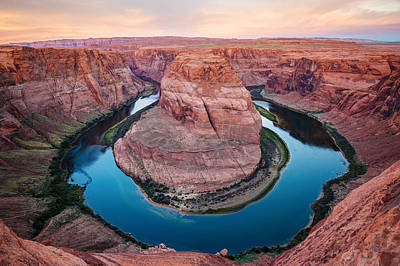 Photograph - Horseshoe Bend Morning - Page Arizona by Gregory Ballos