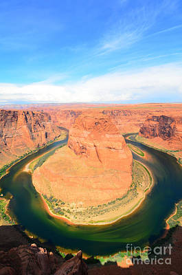 Photograph - Horseshoe Bend On A Cloudy Day by Debra Thompson