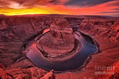 Photograph - Horseshoe Bend Sunset by Adam Jewell