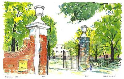 Horseshoe University Of S.c. Art Print