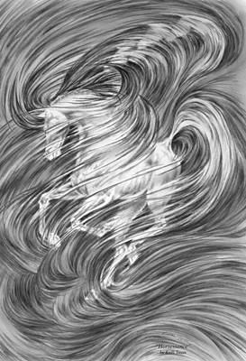 Drawing - Horsessence - Fantasy Dream Horse Print by Kelli Swan