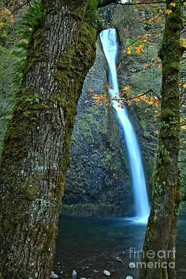 Photograph - Horsetail Falls At Columbia River Gorge by Adam Jewell