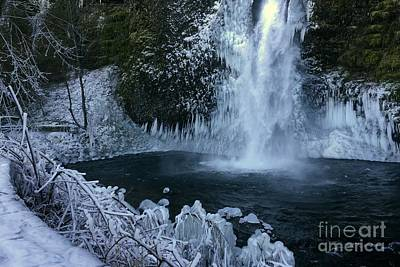 Photograph - Horsetail Falls In Columbia Gorge In Winter by Charlene Mitchell